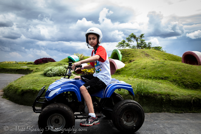 ATV riding at Kampung Gajah Wonderland