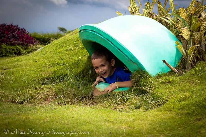 Playing around at Kampung Gajah Wonderland