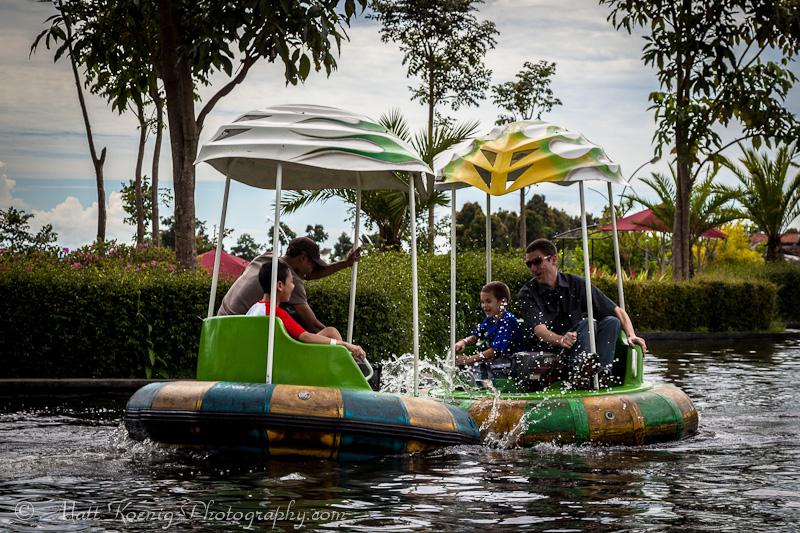 Bumper Boats at Kampung Gajah Wonderland